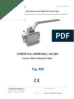 3 Piece Full Bore Ball Valves 800