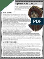 Pathfinder Society Faction Journal Cards - Season 8 - Half Sheet