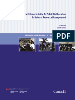 A practitioner's guide to public deliberation in natural resource management.