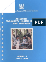 Module 2 Assessing Community Health Needs and Coverage (User's Guide)