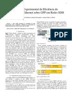 Artigo - 2005 - Analise Experimental Da Eficiencia Do Mapeamento Ethernet Sobre GFP Em Redes SDH (1)