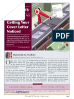 Getting Your Cover Letter Noticed