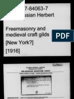 Freemasonry and Medieval Craft Gilds