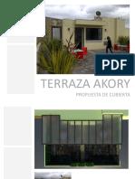 Cubierta edificio Akory