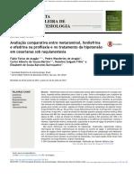 Avaliacao Metaraminol, Fenielefrina e Efedrina