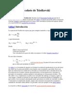 Ecuación Del Cohete de Tsiolkovski