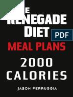 Renegade Diet Meal Plan 2000