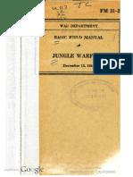 FM 31-20 Jungle Warfare (1941)