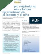 2011 Fisioterapia Respiratoria, Indicaciones y Formas de Aplicación en El Lactante y El Niño