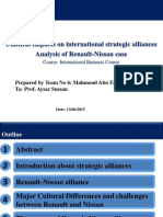 Cultural Impacts on International Strategic Alliances ,Analysis of Renault-Nissan Case