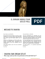 El Dorado World Tour Setlist Poll