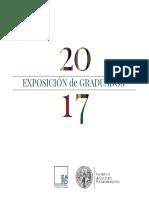 Catalogo de Exposicion de Graduados 2017 de la Escuela de Artes Plasticas y Diseño