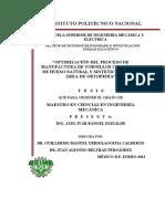 Optimizacion Del Proceso de Manufactura de Tornillos Corporeos