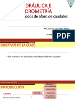 METODO DE AFORO DE CAUDALES