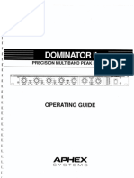 Aphex Dominator II Operating Guide