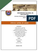 Informe Salidas de Campo Geologia de Minas