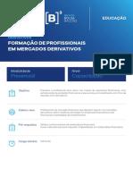 B3 Educacao - Formacao Em Derivativos