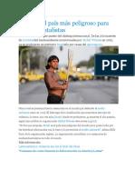 Brasil Es El País Más Peligroso Para Los Ambientalistas