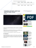 Astronomia - O Paradoxo de Fermi - Onde é Que Estão as Outras Terras - Gizmodo Brasil