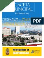Gaceta Municipal Ordenanza de Zonificacion 2012-2017