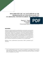 Descripcion de Las Estadisticas de Problematicas Psicoso-2