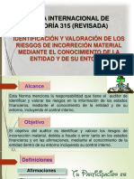 Norma Internacional de Auditoría 315 (Revisada)