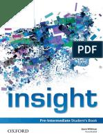 Insight Pre-Intermediate SB 2013 166p