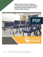 Anexo 3 Normas Control Escolar Aplicables Planteles Oficiales EMS