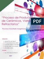 Proceso de Producción de Cerámicos Vidrios y Refractarios
