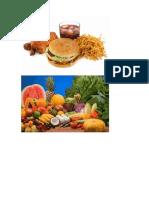Alimentos Saudaveis e Nao Saudaveis