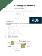 Parámetros de Funcionamientos de Una Turbina de Vapor