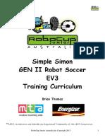 GEN II EV3 Simple Simon Soccer Player and Goalie HT