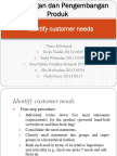 Identify Customer Needs FIX