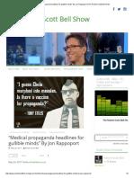 """Medical Propaganda Headlines for Gullible Minds"" by Jon Rappoport _ the Robert Scott Bell Show"