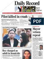 Front page - York Daily Record/Sunday News, July 31, 2010