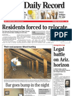 Front Page - York Daily Record/Sunday News, July 29, 2010