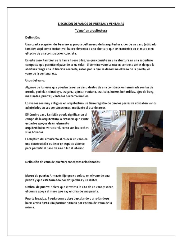 Ejecución de Vanos de Puertas y Ventanas (2)