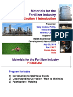 Seminar on Material for Fertilizer Industry Section 1 - Introduction