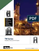TW Series Heatless Desiccant Air Dryers (10 - 6000 Scfm)