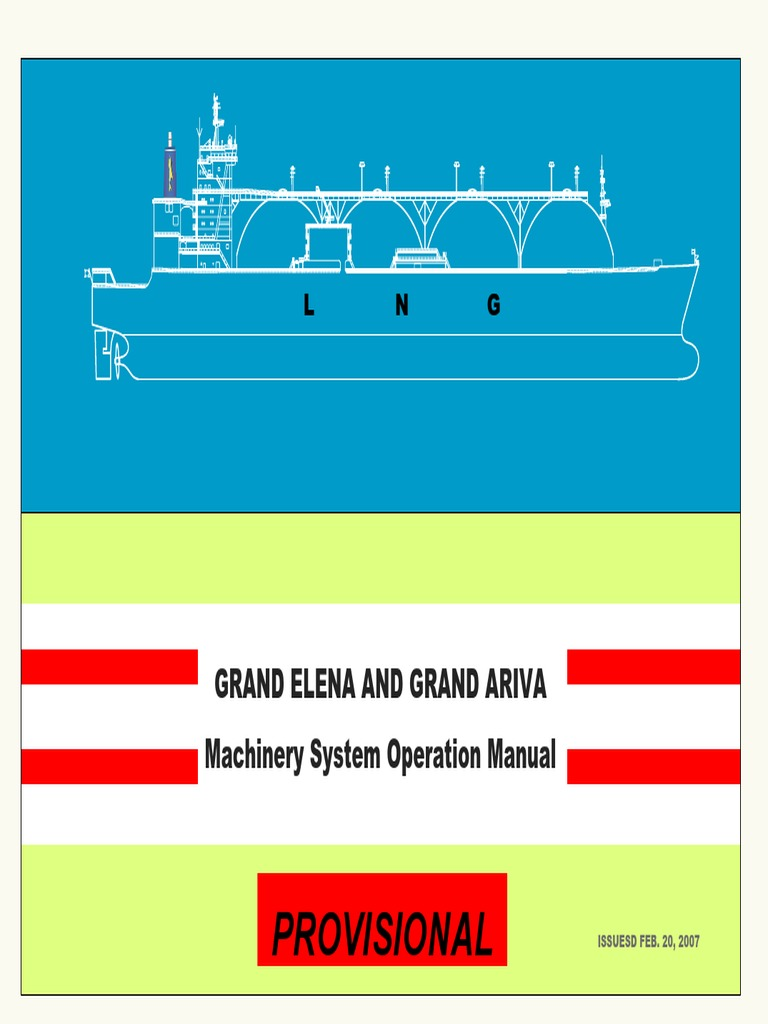 105393590-LNGC-Machinery-System-Operation-Manual.pdf | Boiler | Steam