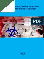 Pedoman Kriteria Teknologi Pengelolaan Limbah Medis Ramah Lingkungan 09122014