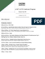 Agenda for Child Neurology Society Meeting 2017