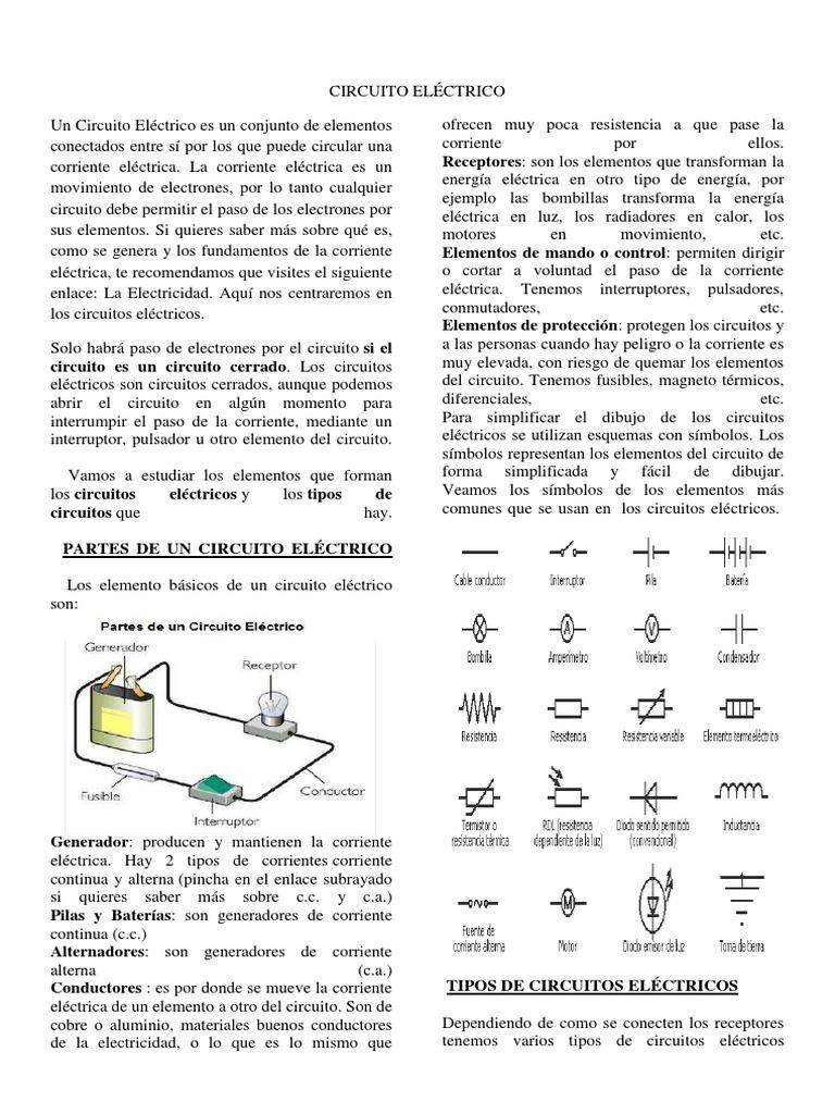 Circuito Basico Electrico : Analisis basico de circuitos electricos y electronicos txelo y