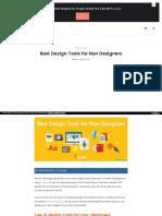 Best Design Tools for Non Designers