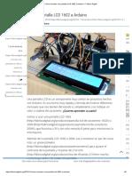 Cómo Conectar Una Pantalla LCD 1602 a Arduino – Fábrica Digital