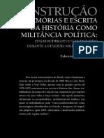 Construção - De Memórias e Escrita Da História Como Militância Política - Edgar Rodrigues e o Anarquismo