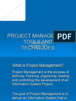 Project Management Tools and Techniques