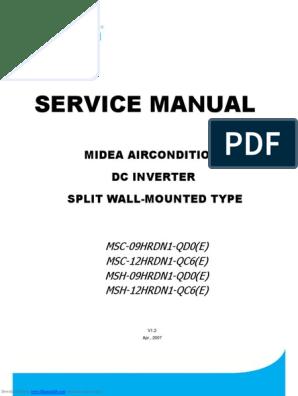 Midea SERVICE MANUAL pdf | Hvac | Air Conditioning