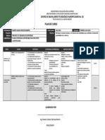 Plan de Curso Planea Estrategias Para El Proyectos
