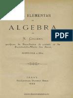N. Culianu - Curs Elementar De Algebră [1883].pdf